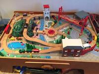Big City Wooden Rail Train Table plus extras