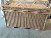 Bamboo ottoman trunk chest