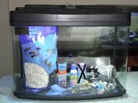 64 Litre fish tank Aquarium by Fish Box (Interpet) Inc. Gravel Ornaments Etc.