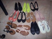 Women's Girls Shoes Heels Boots Sandals Flats all size 3 - 17 pairs
