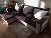 Corner sofa bed - used excellent condition - buyer must collect