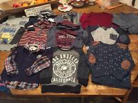 Boys 4-5 long sleeve tops and jumper bundle immaculate condition
