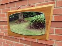A quirky vintage retro teak mirror!