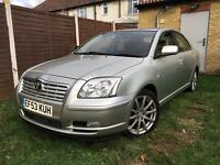 "2003 TOYOTA AVENSIS 2.0VVTI T4 S/HISTORY 1F KEEPER CRUISE & TRACTION CONTROL PARKING AID 17"" ALLOYS"