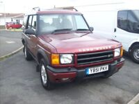 2002 LandRover Discovery Td5 GS Diesel5 speed 7Seater 124k FSH tow bar px look