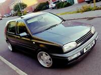 1996 VW GOLF MK3 2.8 VR6 5 DOOR CLASSIC MANUAL SPACE GREY MODIFIED BORBET WHEELS LOWERED LONG MOT