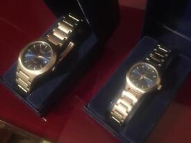 BRAND NEW DESIGNER SEKONDA ( matching his & hers watches ) was £90 - just £30