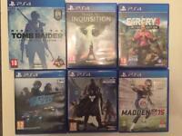 6 x PS4 games