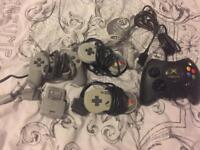 Snes ps1 Xbox controllers