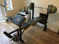 Everlast weights bench / multi gym as new hardly used