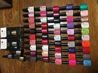 CND Shellac Nail colours used 55 bottles and UV LAMP complete