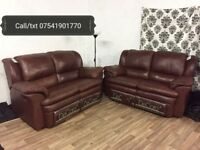 New decoro recliner leather 2+2 seater sofas**Free delivery**