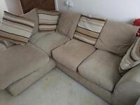 Light brown corner sofa and hug chair (SELL OR SWAP)
