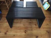 Pier dark wood coffee table with two side tables