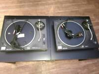 Pair of Technics SL 1210 MK2 with Cables