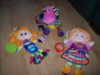 LAMAZE PINK BUNDLE OF TOYS INC DRAGON,EMILY DOLL,AND MERMAID