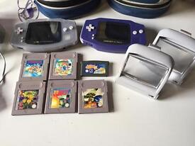2 Nintendo Gameboy Advance Consoles with 6 games & Accessories