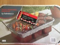 Disposable family bbq, with safety matches.