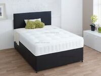UK NUMBER ONE SALE -- CASH ON COLLECTION DOUBLE DIVAN BED BASE WITH DIFFERENT TYPES OF MATTRESSES