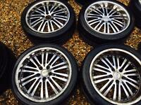"18"" ALLOY WHEELS FOR GOLF MK5 AUDI A3 A4 PASSAT SHARAN SET OF 4"