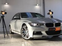 "BMW 3 Series 2.0 325d M Sport+RED LEATHERS+XENON LIGHTS+BLUE CLIPPERS+19"" ALLOY WHEELS"