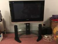 "37"" Panasonic viera TH-37PV500B Television with stand"