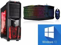 Gaming PC with 6 games, Keyboard and Mouse. WIndows 10