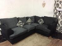 New large black/Grey corner sofa**Free delivery**