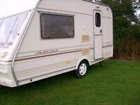 abbey lincoln 2 berth light weight van end kitchen full awning excellent condition