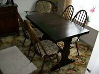 Ercol dining room table in mahogany