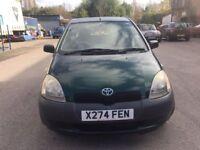 2000 plate - Toyota Yaris - Semi Automatic - One year mot - 1 Litre petrol - cheap runner