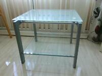 60 cm square Frosted toughened glass coffee table