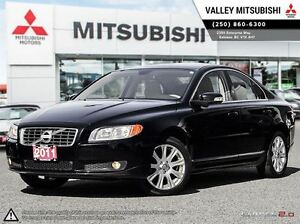 2011 Volvo S80 3.2 Level 1 - Leather and Heated Seats, Chrome Tr