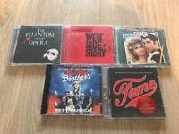 Job lot CDs from Musicals various- 5 CDs