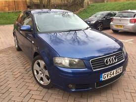 Audi A3, 2L TDi Sport, 3dr, Full Service History, 2 Keys, Long MOT, Mileage 101300, ••£2250••