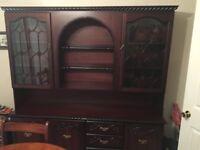 Dark wood display cabinet free to take away