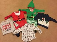 Baby boys 3-6 months Christmas clothes bundle