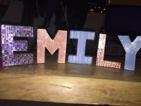 Hand made personalised letters