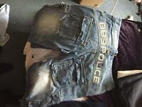 2nd hand real police denim shorts £100 new looking for £15