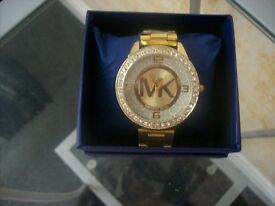 mk style watch gold