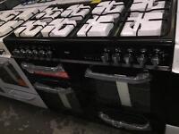 **SUPER SALE** New Graded Bush 100cm Dual Fuel Range Cooker - Black