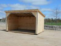 PORTABLE HORSE RUN-INS OR ROW BARNS