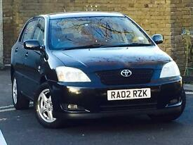 *2002 TOYOTA COROLLA VVT-i T3*5 DOOR*BLACK*14 SERVICE STAMPS*FREE 3 MONTHS WARRANTY*DRIVES PERFECT*
