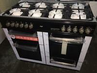 **CHRISTMAS SALE** New Graded Bush 100cm Dual Fuel Range Cooker - Black