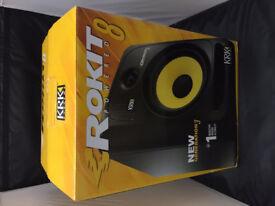 2 x KRK RP8 G3 Rokit G3 Powered 2-Way Active Studio Monitors / Speakers.