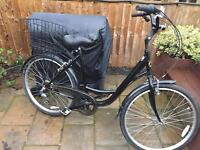 """Ladies 19"""" step-through bicycle. Inc new lights & basket. Delivery & D lock available"""