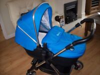 SILVERCROSS WAYFARER 3 IN 1 TRAVEL SYSTEM PUSHCHAIR, CARRYCOT,CAR SEAT,ADAPTERS RAINCOVER +++
