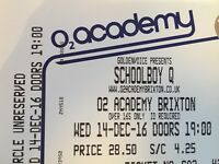 ScHoolboy Q ticket for December 14 at O2 Academy Brixton - CIRCLE!!!