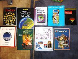 Big Selection of 9 Science / Languages, Religion, Medicine Books