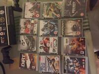 Sony PlayStation 3 (with 2 controllers and 12 games inc COD black ops and Assassins Creed I &II